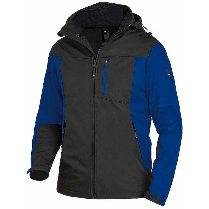 Gr/ö/ße 3XL FHB Jersey-Fleece Ralf 78461-3620-3XL royalblau // schwarz