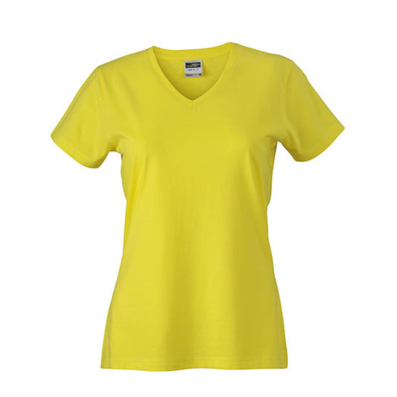 James /& Nicholson Damen Kurzarm tailliertes V-Ausschnitt V-Neck T-Shirt